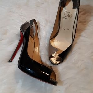 LOUBOUTIN red bottom avant garde heels
